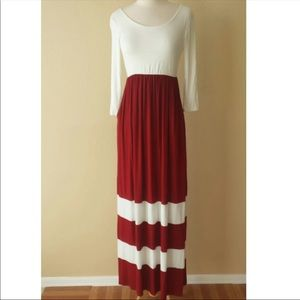 Maxi boho dress with pockets